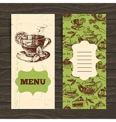 Tea vintage banners vector