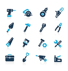 Tools icons azure vector