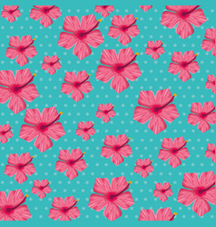 tropical seamless pattern floral vector image vector image