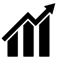 Growth chart flat icon vector