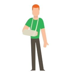 Trauma accident and human body safety vector