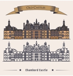French chateau chambord castle building vector