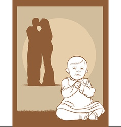 Baby couple vector