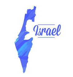 isolated israel map vector image