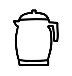 Teapot silhouette isolated icon vector