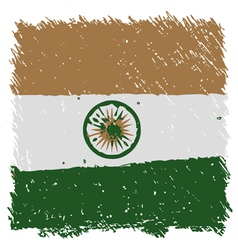 Flag of india handmade square shape vector