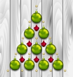 Abstract tree made of christmas balls vector