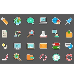 Internet stickers set vector