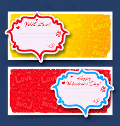 Abstract lovely horizontal banners vector