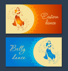 Belly dance banner vector