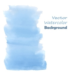 Blue watercolor paint vector image