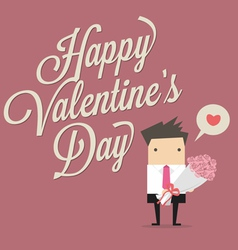 Businessman Happy Valentine Day vector image