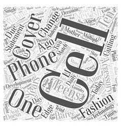 Cell phone covers word cloud concept vector