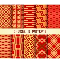 Chinese Pattern set vector image