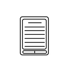e-book icon vector image