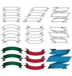 Flat design origami banners vector image vector image