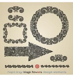 flower design element - arrow circle frame divider vector image vector image