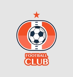 football Badge 9 vector image vector image