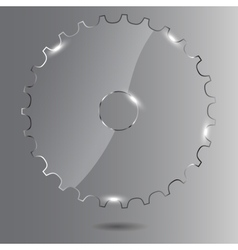 Glass gear vector image vector image