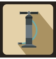 Hand air pump icon flat style vector image