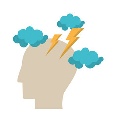 Human head idea brainstorm image vector