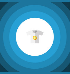 isolated t-shirt flat icon clothes element vector image