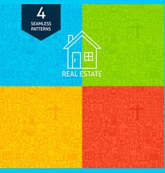 line real estate patterns vector image vector image
