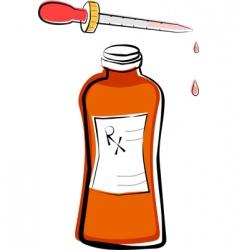 Liquid medicine and dropper vector
