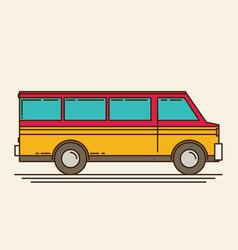 Minivan eps 10 vector