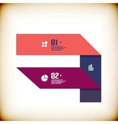 Modern ribbon business banner template vector image