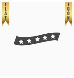 Recommended bestseller star ribbon vector