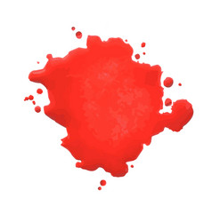 red blot- vector image vector image
