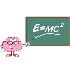 Smart brain teaching vector image vector image