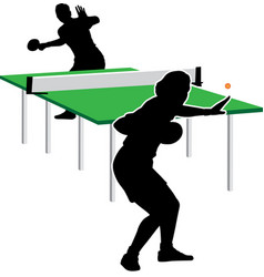 table tennis vector image vector image
