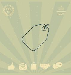 tag line icon vector image