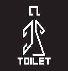 Toilet sign10 resize vector image