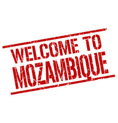 Welcome to mozambique stamp vector