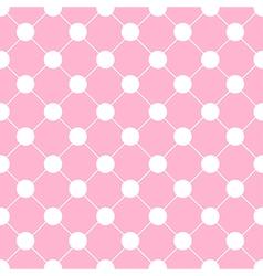 White polka dot chess board grid pink vector