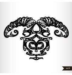 Zodiac signs black and white - aries vector