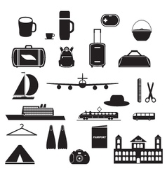 Icons for travel vector