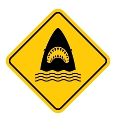 Shark attack warning vector