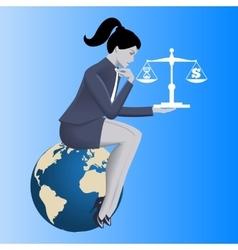 Time money balance business concept vector