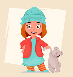 cartoon-girl2 vector image