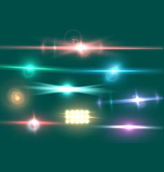 Lens flare effect vector