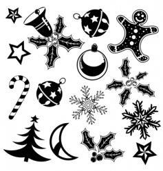 Christmas element vector image