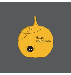 Halloween pumpkin with spider vector image