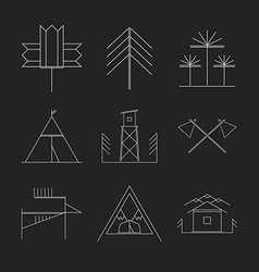Set of retro camping badges vector