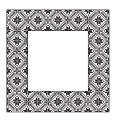 Set square frame ornamental ethnic vector