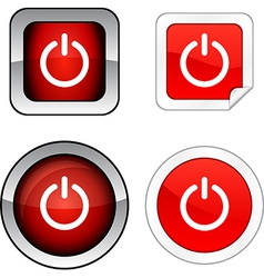 Switch button set vector