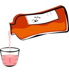 medicine and cup vector image